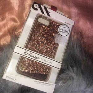 Genuine Rose Gold Crystal iPhone 7 case